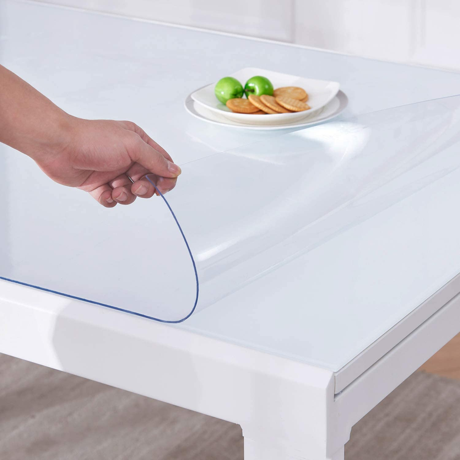 LIMNUO Clear Table Cover Protector 1.5mm Thick Credence 24 P x Inches 86 Long-awaited