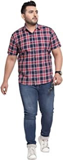 pluss Cotton Half Sleeves Shirt for Men and Boys (Blue)