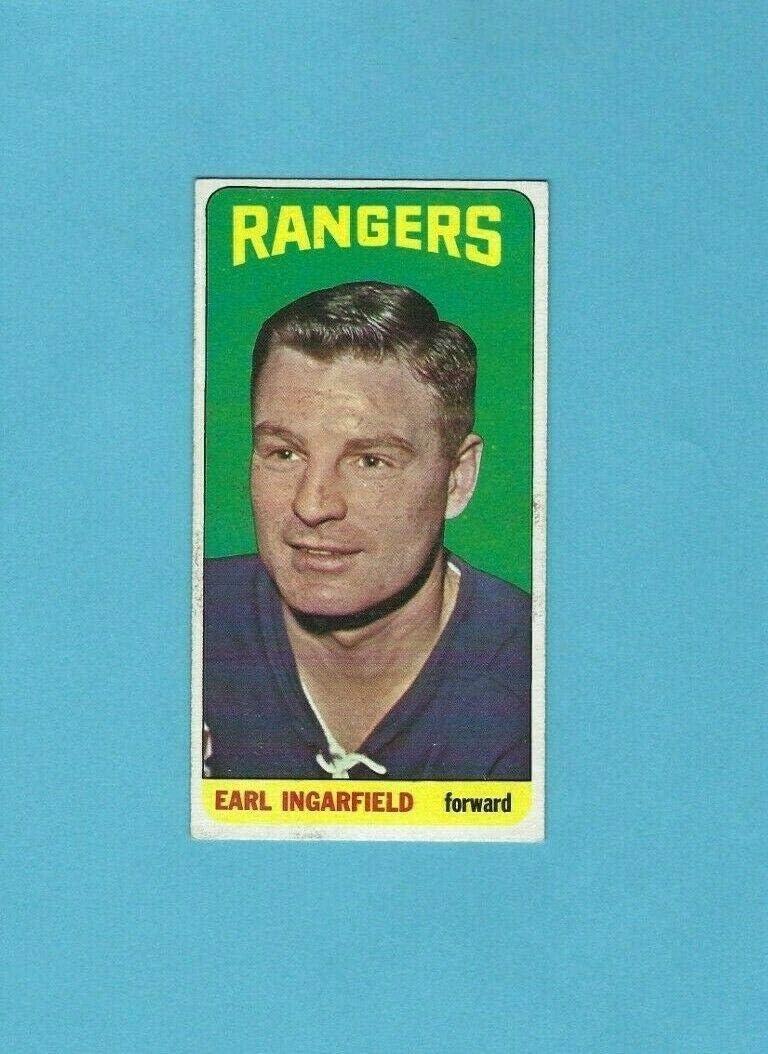 1964-65 Topps #65 Earl Ingarfield New Hockey York Superlatite - Card Oklahoma City Mall Rangers