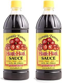 World Market Hawaii's Famous Huli-Huli Sauce - Meat Rub BBQ Marinade Sauce - Low Sodium Gluten-Free Sauce - 24 Ounce - Pack of 2