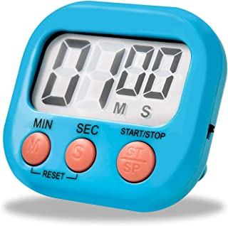 Techsea Kitchen Timer, Digital Kitchen Timer with Loud Alarm, Big Digits, Magnetic Backing, Retractable Stand for Cooking ...