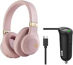 JBL E55BT Quincy Jones Edition Wireless Bluetooth Over-Ear Headphones (Dusty Rose) + Micro USB Car Charger