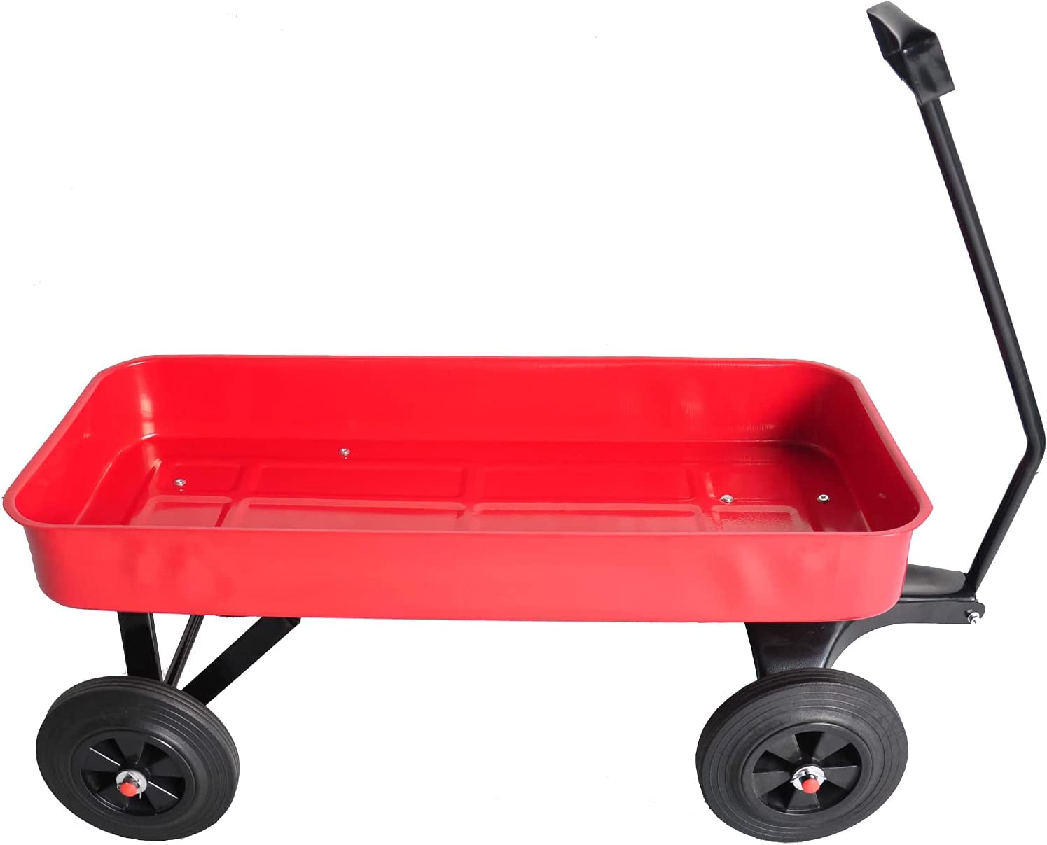 Garden Cart with Solid Wheels Wagon Utility Max 70% OFF 2 Save money Outdoor