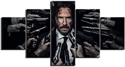 Modern HD printing wall art frame canvas picture 5 pieces John Wick painting poster living room home decoration