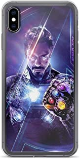 iPhone XR Pure Clear Case Cases Cover Man of Iron Tony Stark Avengerss Superheros End Game Infinity Stones Gauntlet Shield Comic