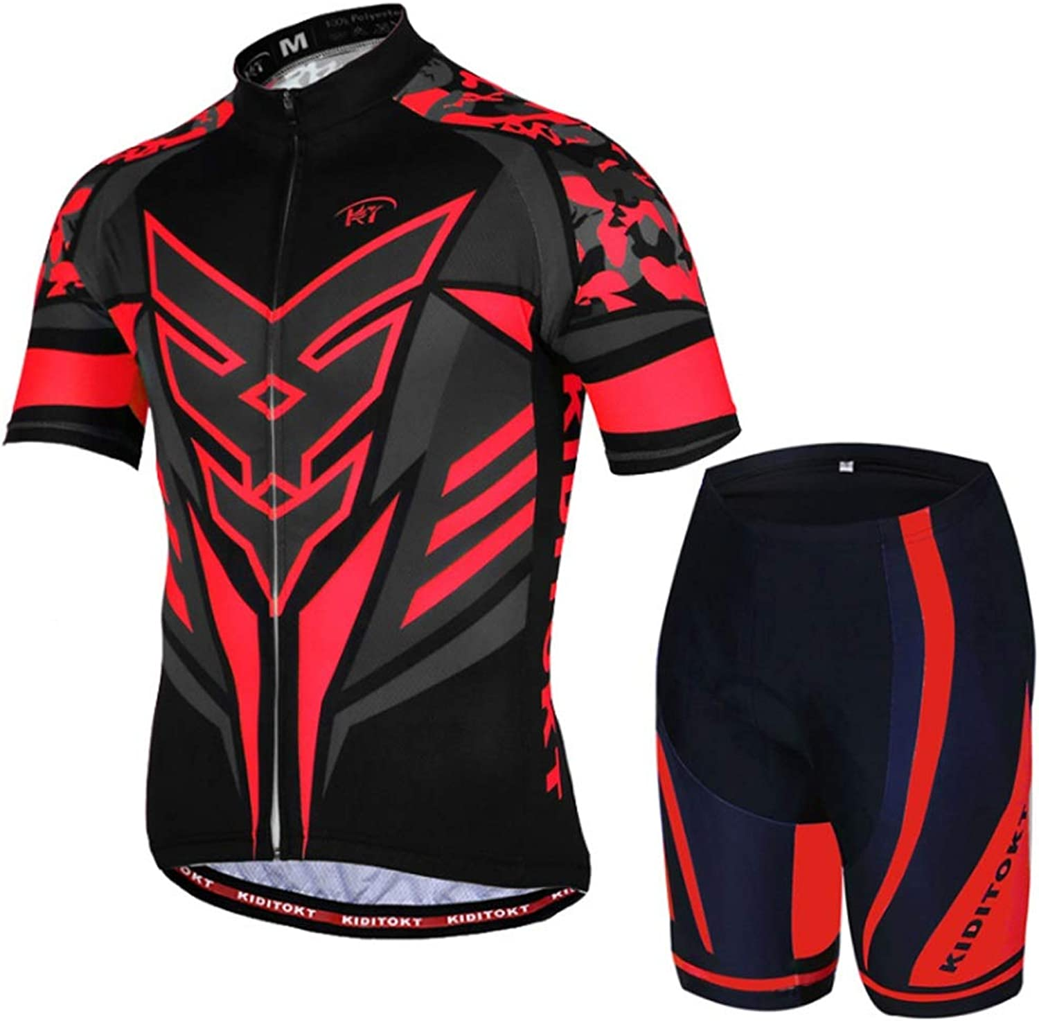 Men's and Women's Bicycle Jersey Suit ShortSleeved Shirt and Shorts Breathable and QuickDrying Cycling ShortSleeved Suit