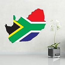 DIYthinker Flag Map of South Africa Wall Vinyl Sticker Custom Home Decoration Wall Sticker Wedding Decoration PVC Wallpape...