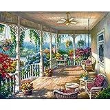 Pinturas de paisaje por número Kits de pintura de lienzo Pintura al óleo de...