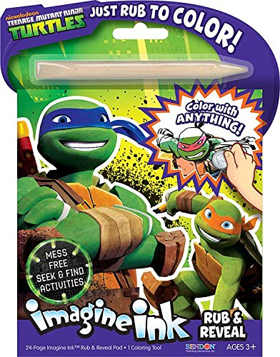 Bendon Publishing TMNT Imagine Ink: Rub and Reveal Book Playset