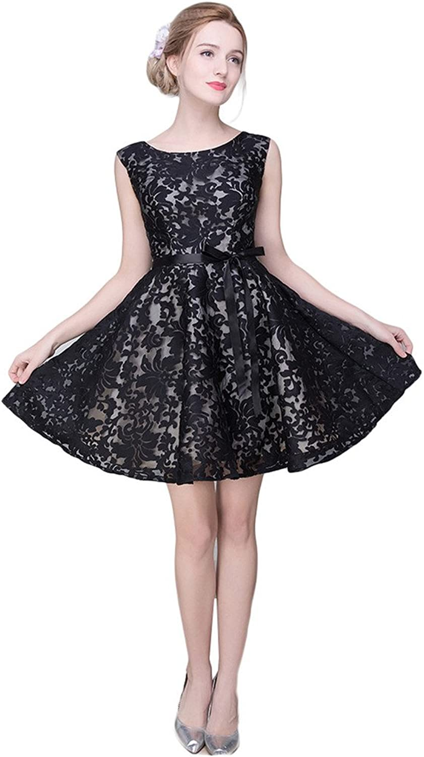 Drasawee Juniors Short Aline Homecoming Dress Cocktail Ball Party Gowns BlackUS14
