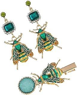 Baoblaze Retro Insect Earring Hair Clip, 3 Pcs/Set, Bohemian Style, Women Girls, Personality Earring, Hair Accessories, Earrings Hairpin Set