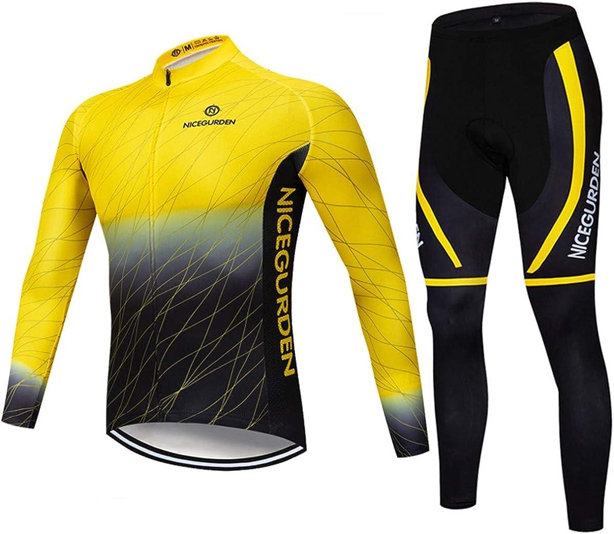 NICEGURDEN Mens Long Sleeve Cycling Jerse Clothing Bike Milwaukee Mall Popular Mountain