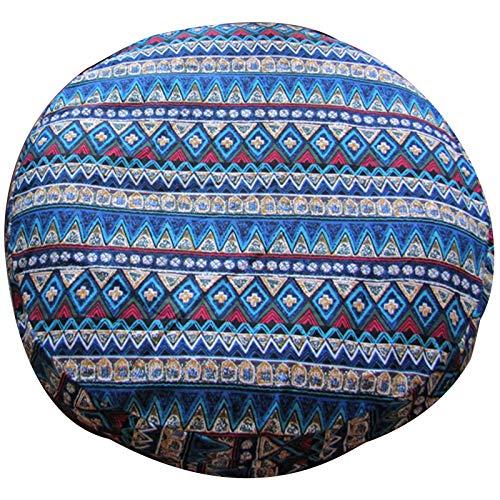 Cojín De Asiento Cojín para Sentarse Meditation Cushion Cojin Yoga Zafu Mandala Funda De Almohada De Suelo Bohemio con Un Gran Mandala Hippie, Indio, Bohemio,para Decoración-A-60x60x15cm(24x24x6inch)