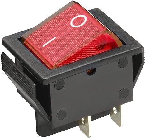 Wittkoware Kontroll Wippenschalter 30x22mm 2 Polig Ein Aus 15a 250v I O Rot Baumarkt