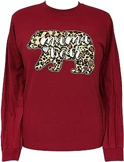 Girlie Girl Mama Bear Leopard Preppy Long Sleeve T-Shirt Adult