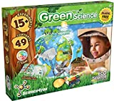 Science 4 You Green Science Kit for Kids Ages 6+ w/ 15+ Science Experiments: Cress Seeds for Kids to Grow, 60pcs Puzzle, Garden Windmill, Rocket Launcher, Eco Friendly Gift and Toy for Boys and Girls