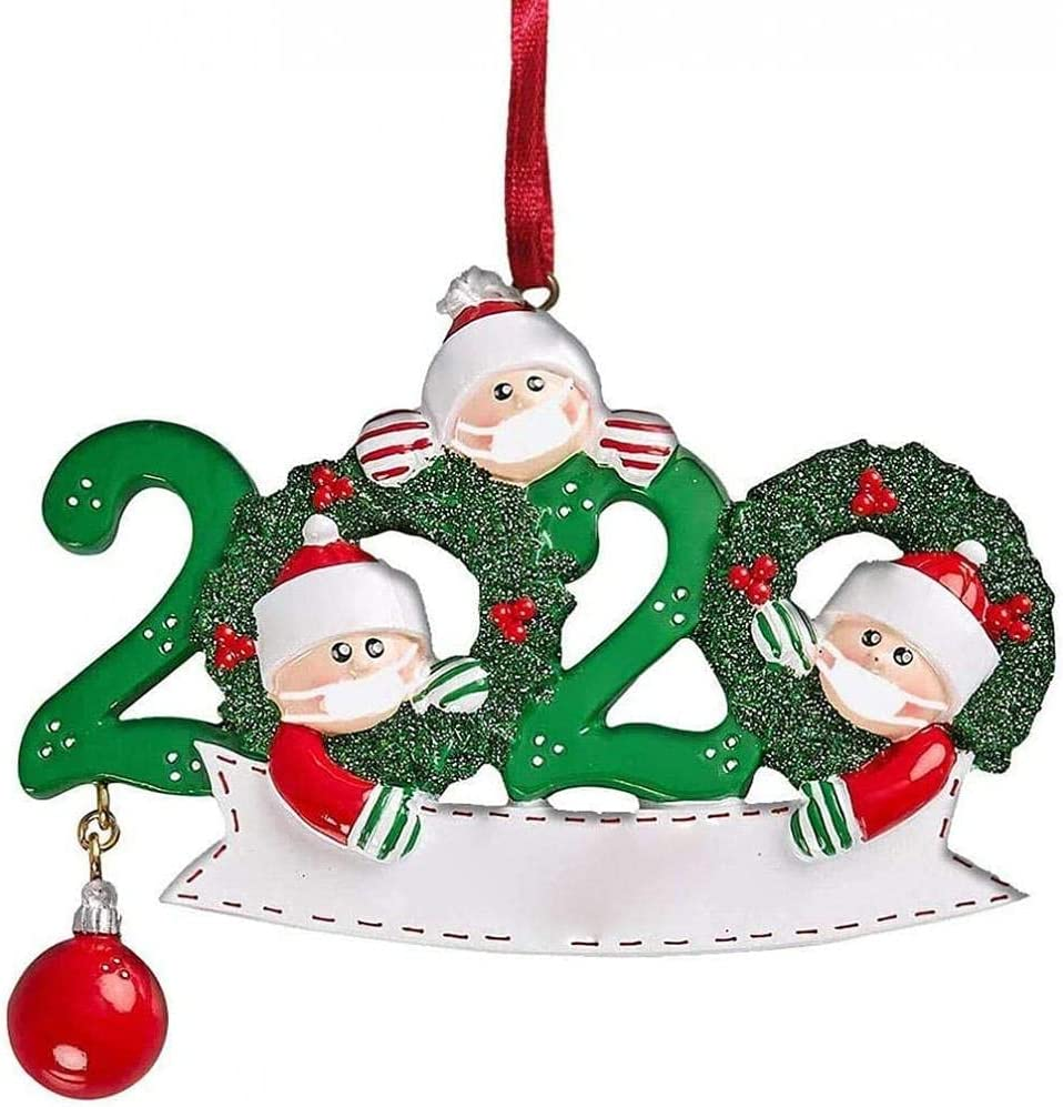 Adorno De La Familia De Navidad Sobrevivió Adornos De Árboles De Navidad 2020 Adornos Navideños Decoraciones De Vacaciones Sobrevivieron a La Familia De Navidad Ornamentos Colgantes Para(familia De 3)