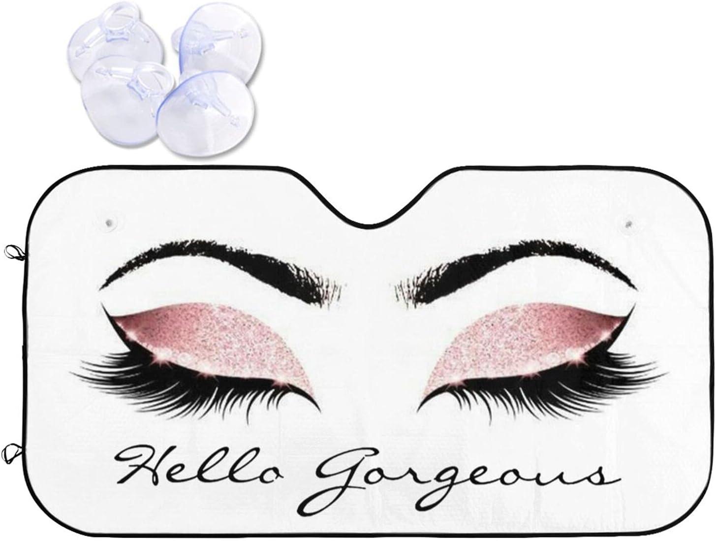 Hello Gorgeous New product! New type Quantity limited Eyelashes Car Sun Shade Foldable Blocks P UV Rays