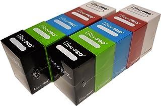 Ultra Pro Magic/Pokemon/Yugioh Cards Deck Boxes, Set of 10 (Red, Blue, Green, Black & White)