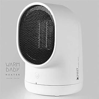 XPRIT Desktop Space Heater Cute Design Ceramic Heater w/Auto Oscillating White