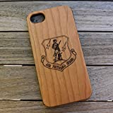 (CH7P) Air National Guard Logo Custom Engraved On A Cherry Wood Phone Case with Flexible TPU Sides for iPhone 6Plus, 7Plus and 8Plus (CH7P-AIRNATIONAL)