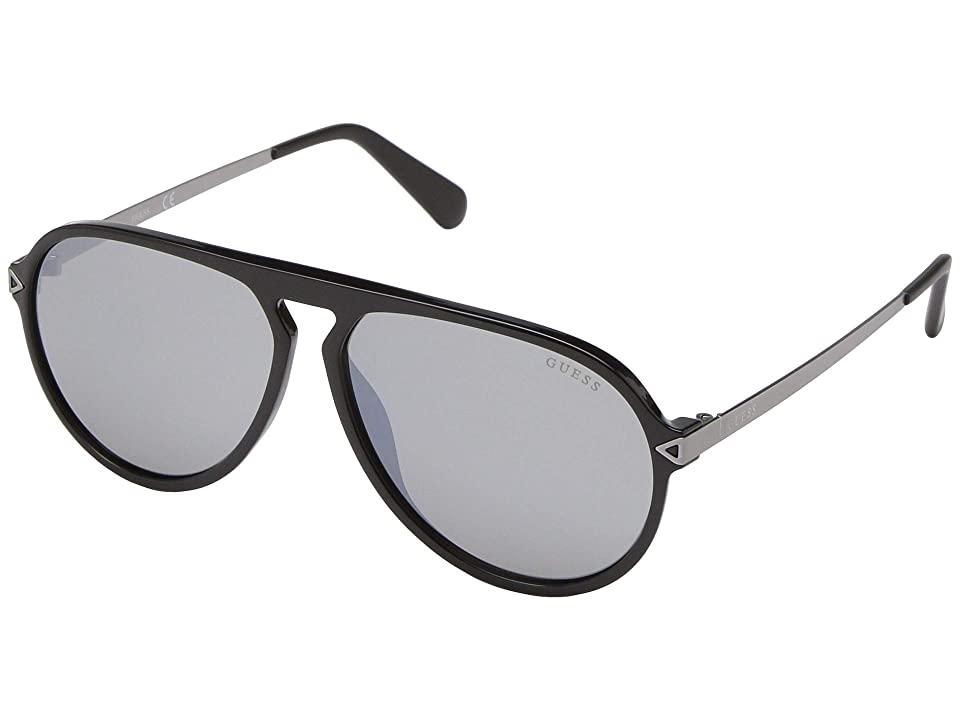 GUESS GU6941 (Black Front/Solid Smoke/Silver Flash Lens) Fashion Sunglasses