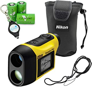 Nikon Forestry Pro Laser Rangefinder, Waterproof Measuring Tool Bundle with 3 Viridian CR2 Batteries and a Lumintrail Keychain Light