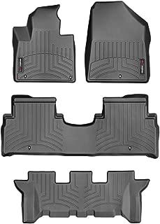 WeatherTech Custom Fit FloorLiner for Kia Sorento - 1st, 2nd, 3rd Row (Black)