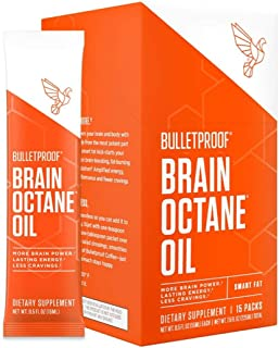 Bulletproof Brain Octane C8 MCT Oil Go Packs from Coconut Oil Provides Mental and Physical Energy, Keto and Paleo Friendly...