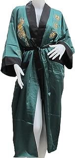Imported Thai Dragon Kimono- Reversible- Green Color