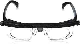 Stylish Adlens Adjustable Glasses - 20/20 Vision - Non-Prescription Lenses for Nearsighted & Farsighted - Computer + Reading + Driving - Unisex Variable Focus Glasses for Men & Women - By Biosense