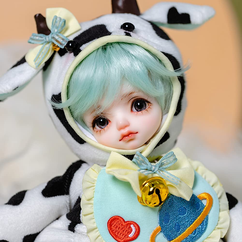 ZDD Boy BJD Doll Full Set Jointed Max 72% OFF Dolls 11.8inch + Cow Makeup Max 73% OFF