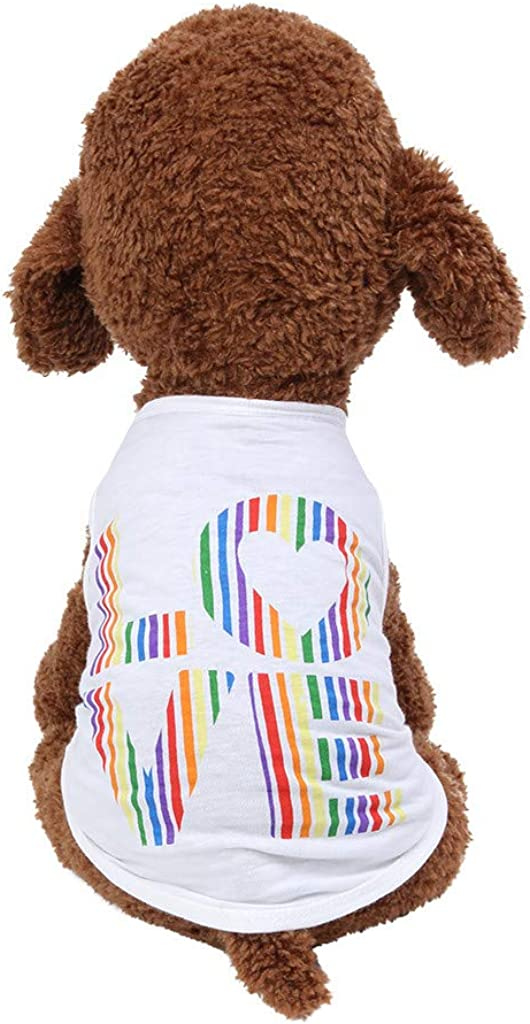 Max 63% OFF Wakeu Dog Clothes for Small Dogs Pet Puppy Funny Summer Girl online shopping Boy