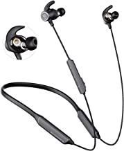 SOUNDPEATS Force Pro Dual Dynamic Drivers Bluetooth Headphones, Neckband Wireless Earbuds with Crossover, APTX HD Audio Built in Mic 22 Hours Playtime, Bluetooth 5.0 Headset Sports Earphones