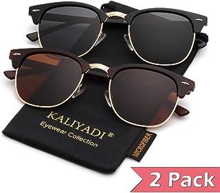 Polarized Sunglasses for Men and Women | Semi-Rimless...