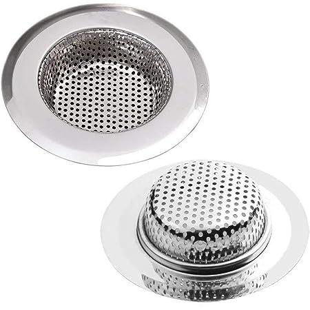 Küchenspüle Abflusssieb Anti-Blocking Netz Stopper mit Rand 3 Zoll Bad Toilette