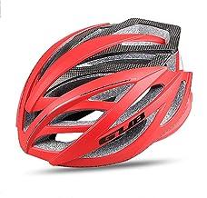Casco de Bicicleta liviano Hecho de Fibra de Carbono, Casco de Carreras de Carretera Protección cómoda y Transpirable para Hombres y Mujeres,Rojo