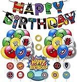 Palloncini Supereroi BESTZY 38PCS Decorazioni di Compleanno di Supereroi Palloncini Supereroi Cake Topper Banner per Supereroi bomboniere a Tema