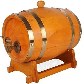 Tonneau à vin en Bois Tonneau de chêne Tonneau de vin, Bois spécial Distributeur de vin Bière de Stockage Whisky du vin Co...