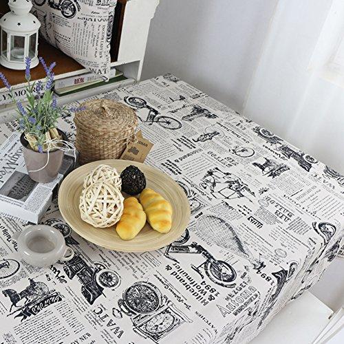 Retro vintage nappes en tissu d'Angleterre la nappe de modèle rembourré de papier nappe englobent les serviettes -A 140x200cm(55x79inch)