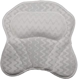 YXHMdd Bathtub Pillow with 6 Strong Non Slip Suction Cups,upport for Head Neck and Shoulders Fits Bath Hot Tubs Jacuzzi