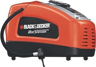 Black+Decker 12V DC Portable Electric Ait Station Inflator Compressor for Bike, Cars, Inflatables and Sports Balls, Orang...
