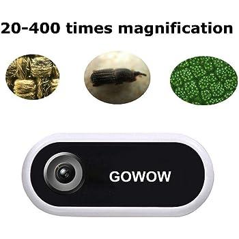 20 x 400 aumentos, universal, port/átil, para Android e iOS Microscopio KKmoon