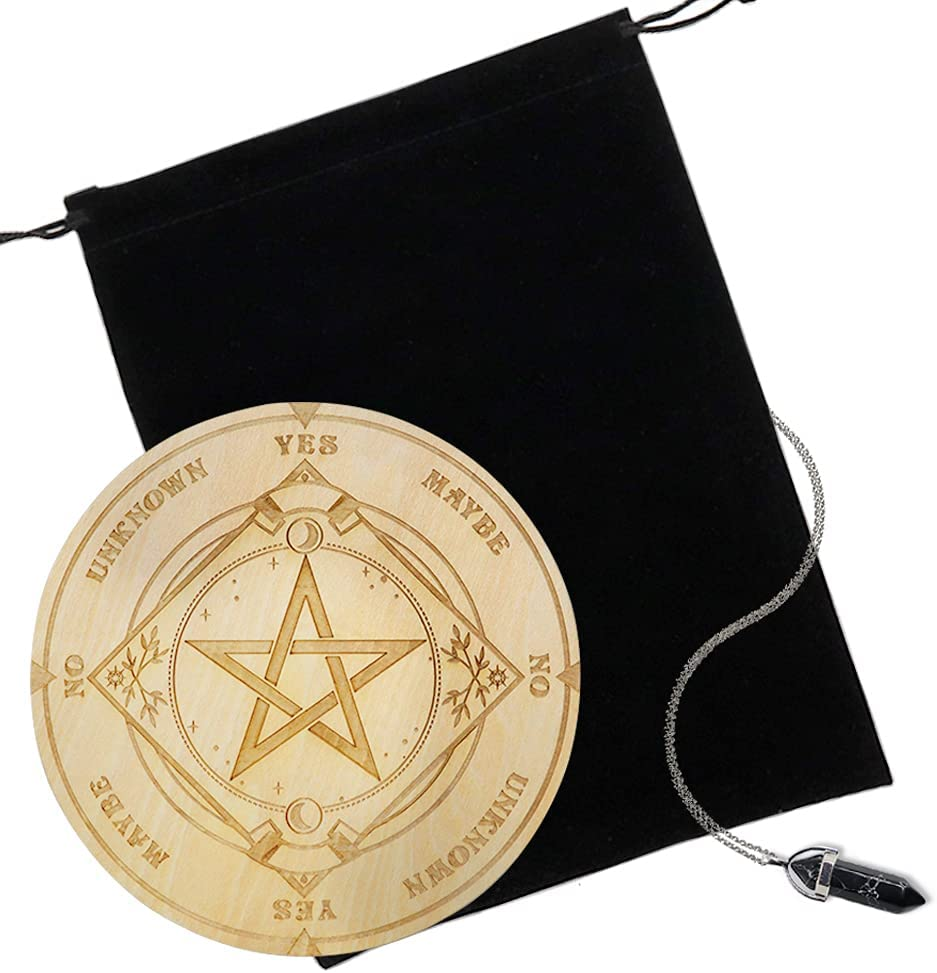 3Pcs Star Pendulum Board Max 43% OFF Dallas Mall Wooden with Crystal Divination a