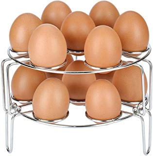 NUMARDA for for Instant Pot and Pressure Cooker Acce Stackable Stainless Steel Egg Steamer Rack, Silver