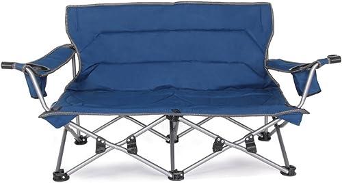 ZYN en Plein air Casual Chaise Pliante Chaise de Pêche Couple Chaise Dossier Double Chaise Ménage Camping Champ Barbecue Chaise Chaise Portable