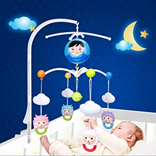 Baby Crib Mobile Bed Bell Holder Toy Decoration Hanging Arm Bracket, Baby Crib Cot Musical Rack for Funny