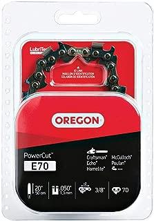 Oregon E70 PowerCut 20-Inch Chainsaw Chain, Fits Craftsman, Echo, Homelite, McCulloch, Poulan