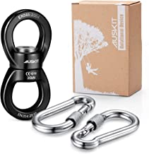 AusKit Swing Swivel, 30 KN Pulley, Safest Rotational Device Hanging Accessory with Carabiners for Web Tree Swing, Swing Setting, Aerial Dance, Children's Swing