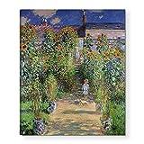 アートパネル クロード・モネ 抽象画 油絵風景画 壁絵 モダン 絵画 ポスター インテリア絵画 壁アート 壁掛け絵画 (40 c m x 50 c m, ヴェトゥイユの画家の庭)